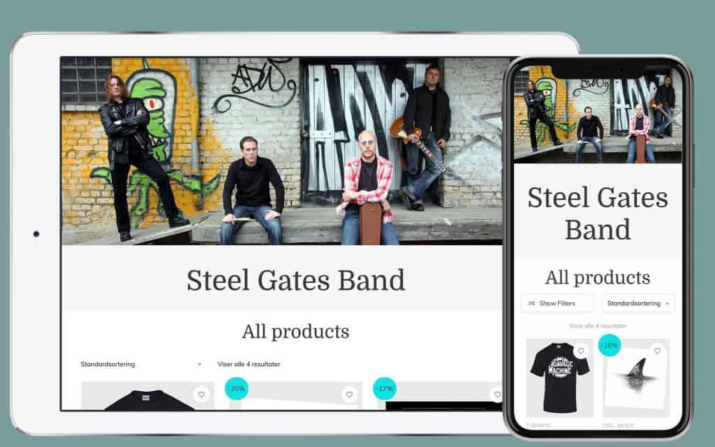 band-landingpage-webshop
