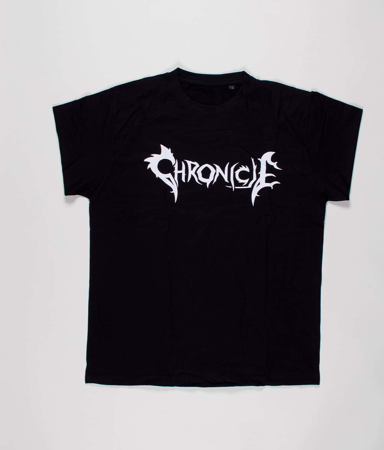 Chronicle: Black T-shirt with White Logo