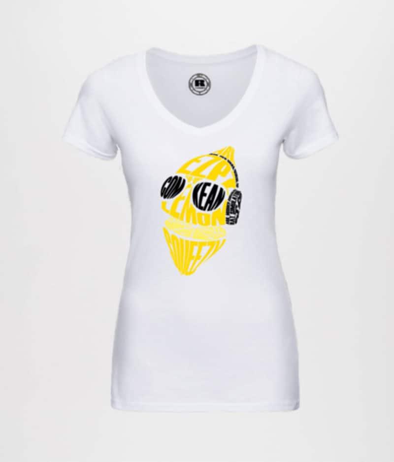 ComKean - White Squeeze T-shirt (Ladies)