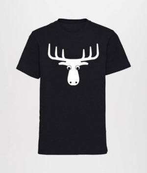 Den Mandige Elg - Sort T-shirt med logo (Boys)