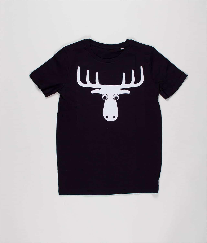 e287135d44a Den Mandige Elg - Sort T-shirt med logo (Mens) – Merch City