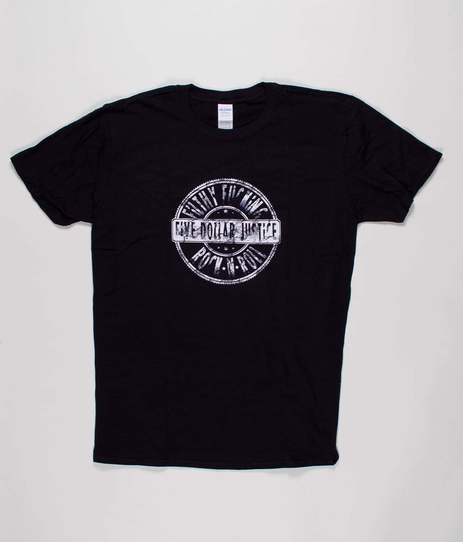 621ca24c Five Dollar Justice - Sort T-shirt med logo (Guys) - Merch City
