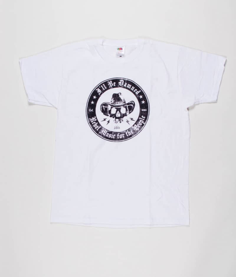 ill-be-damned-white-t-shirt-with-stamped-logo
