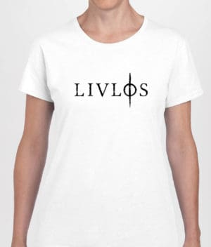 LIVLØS - White T-shirt with Black Logo (girls)