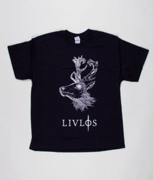 livløs-black-t-shirt-with-white-deer-front