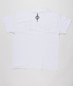 LIVLØS - White T-shirt with Black Logo