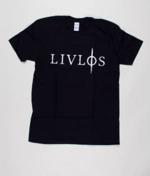 livløs-black-t-shirt-with-white-logo-front