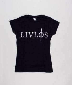 livløs-black-t-shirt-with-white-logo-girls-front