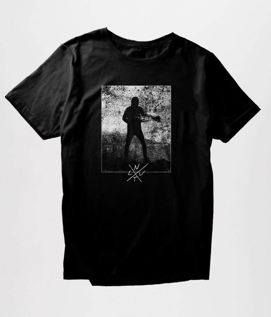 NYT LIV Ensomhedens Kolde Kald BW t shirt