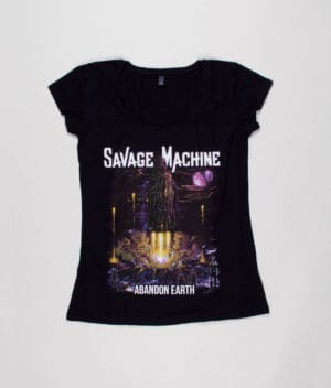 savage-machine-abandon-earth-albumcover-t-shirt-girls