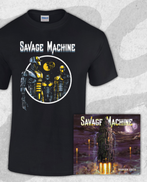 Savage Machine Bundle: Abandon Earth CD + Robots T-shirt (Guys)