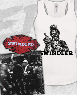 Swindler - The Game Is Rigged Vinyl, Girlie Tanktop and Patch Bundle