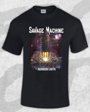 Savage Machine - Abandon Earth Albumcover T-shirt (Guys)