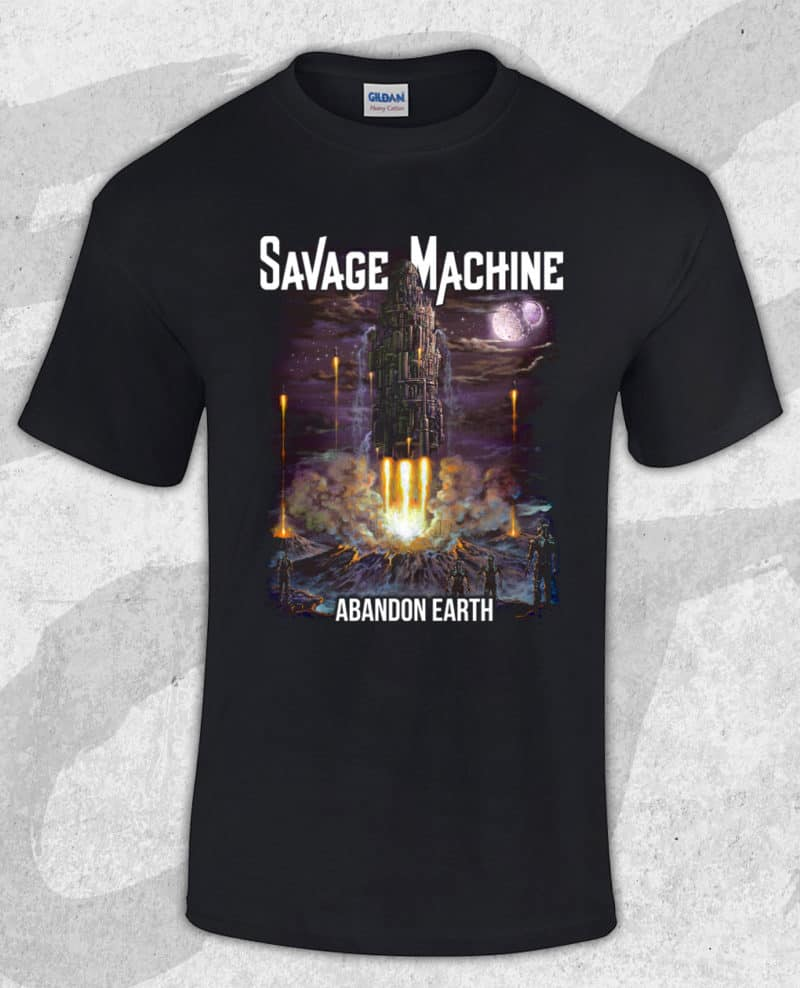 Savage Machine - Abandon Earth Albumcover T-shirt (Guys)