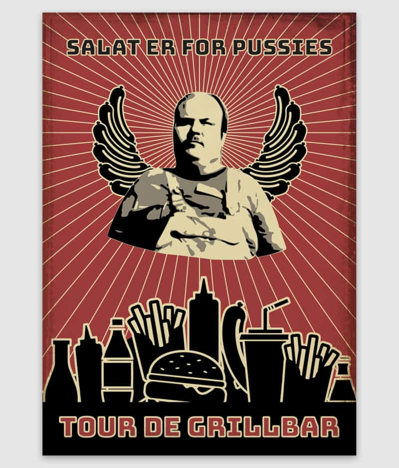 tour de grillbar-poster-salat er for pussies-a2