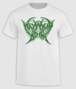 Wayward Dawn - White and Green logo T-shirt