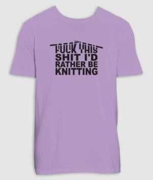 no black shirts-tshirt-knitting-lavender dawn