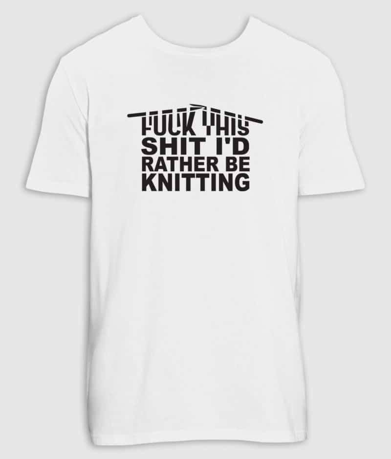 no black shirts-tshirt-knitting-white