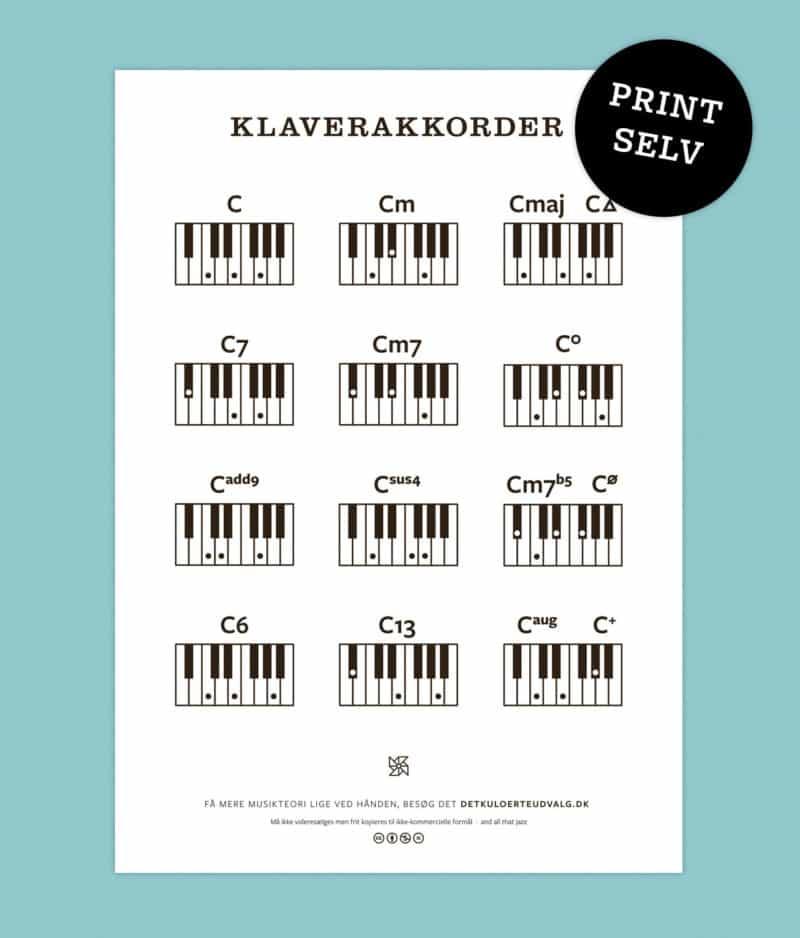 print-selv-klaverakkorder
