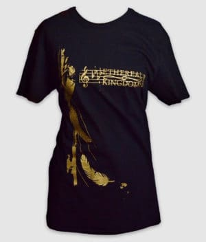 ethereal kingdoms-silent-dance-black-front-t-shirt