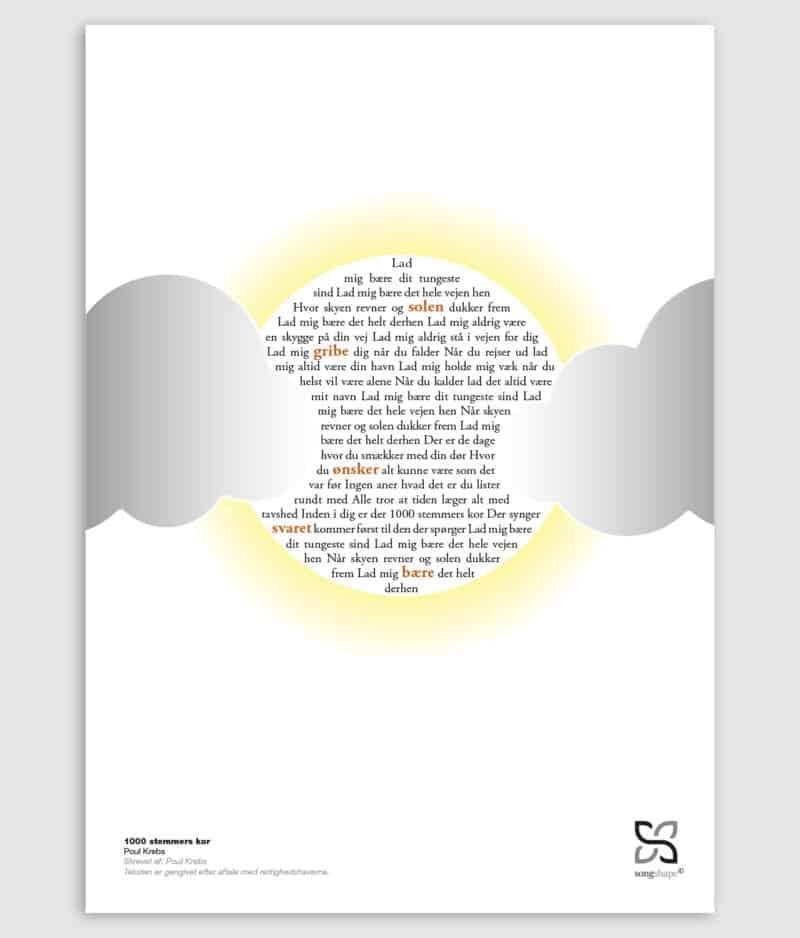Poul Krebs - 1000 Stemmers Kor Plakat