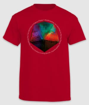 the dreams-tshirt-scratches in the surface-cherry red-front