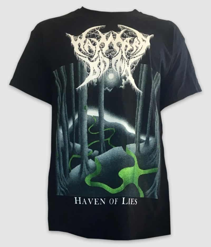 wayward dawn-tshirt-haven of lies-black-front