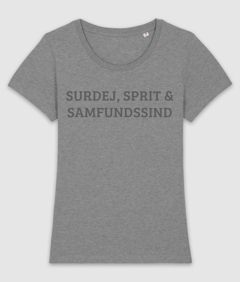 samfundssind-tshirt-expresser-surdej sprit samfundssind-mid heather grey-front
