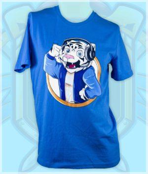 tortenskjold t-shirt tiger-blue