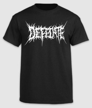 defecate-tshirt-logo-black-front
