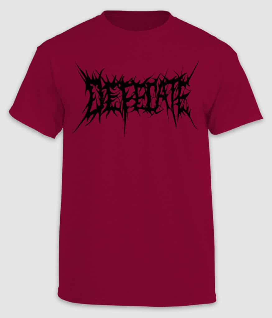 defecate-tshirt-logo-cardinal red-front
