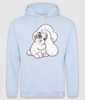 kaytrayne-hoodie-bunny-sky blue-front