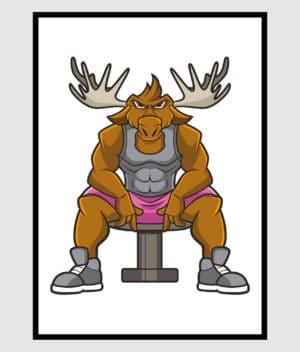 den-mandige-elg-staerk-elg-poster-50x70-shop