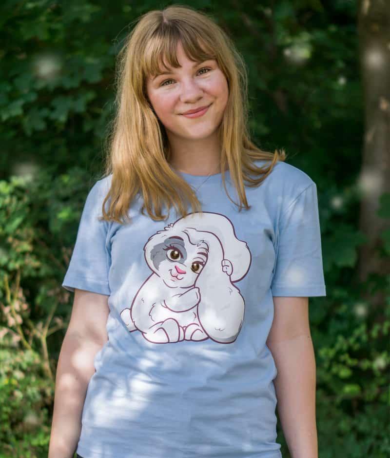 kaytrayne-tshirt-bunny-sky blue-model-1