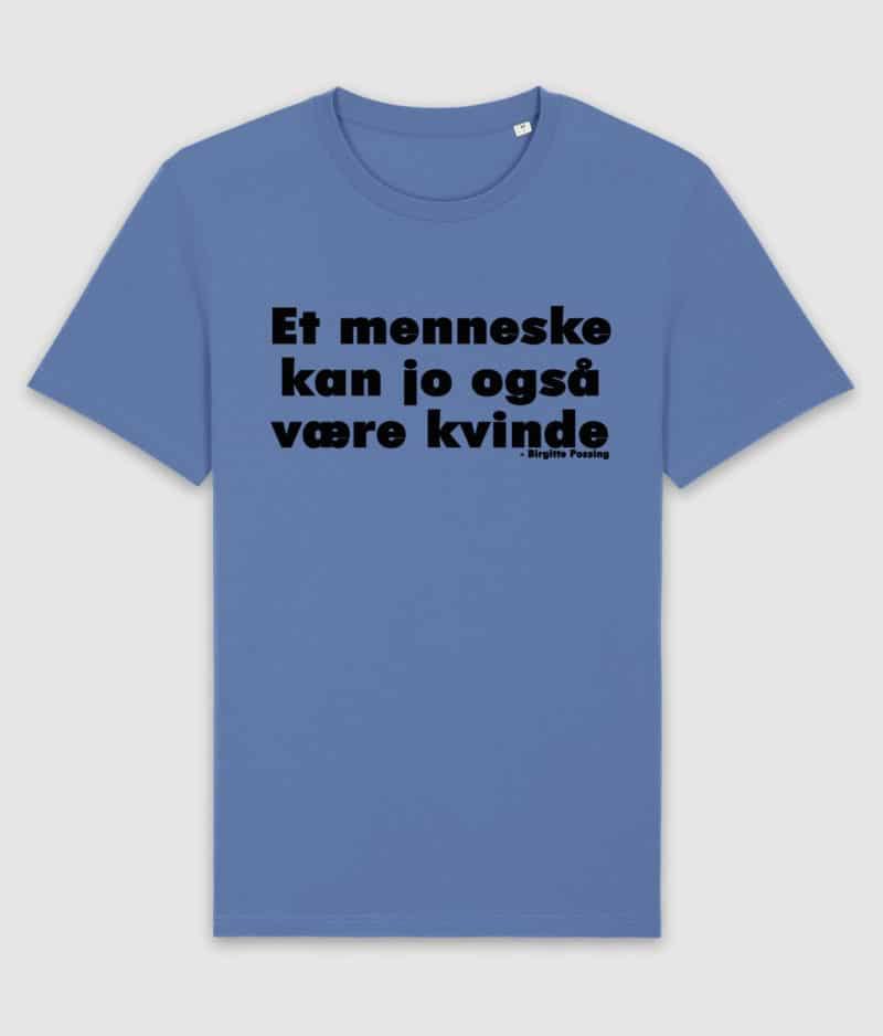 menneske-tshirt-bright blue-front