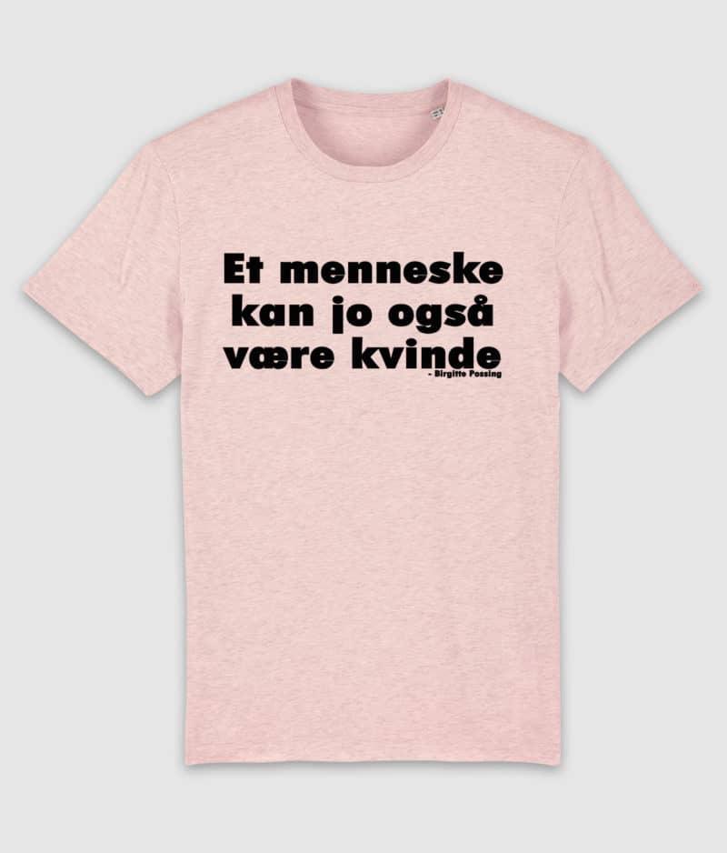 menneske-tshirt-cream heather pink-front