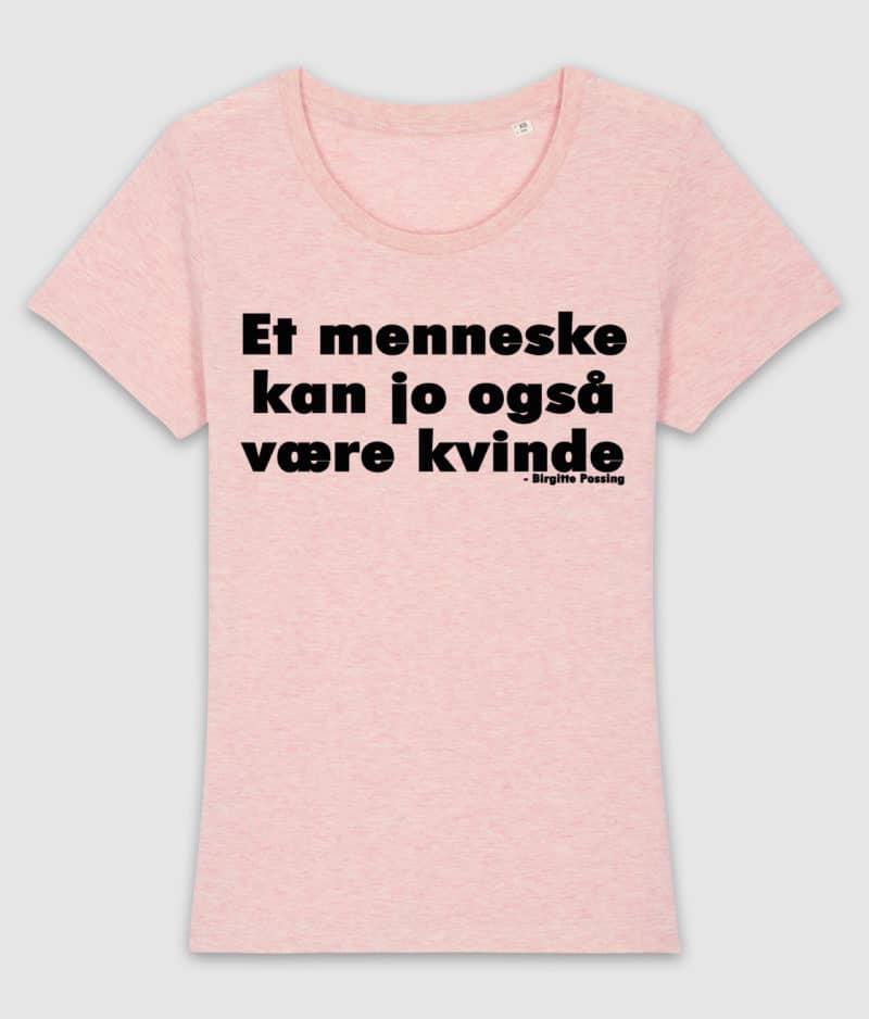 menneske-tshirt-ladies-cream heather pink-front
