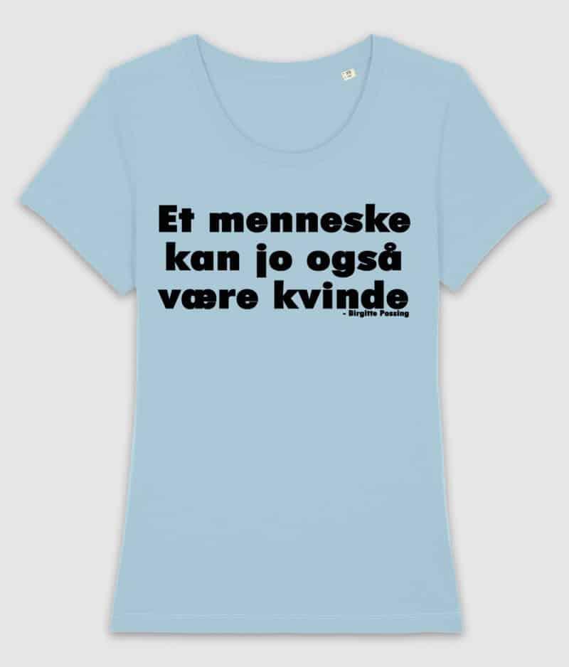 menneske-tshirt-ladies-sky blue-front